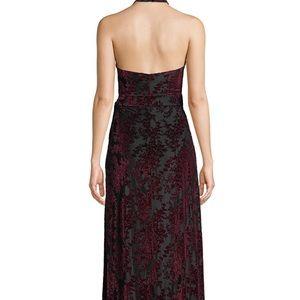 Dress the Population Dresses - Dress the population velvet floral wrap dress